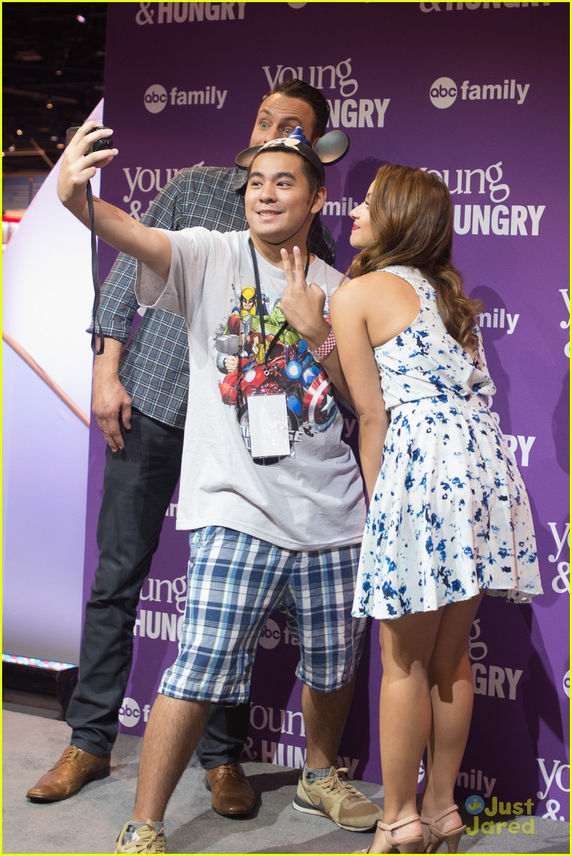 Maia mitchell jonathan sadowski hit up abc family meet greet at maia mitchell jonathan sadowski abc family casts d23 expo 14 m4hsunfo Image collections