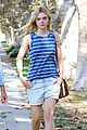 elle fanning lunch dakota hair appointment separate outings 29