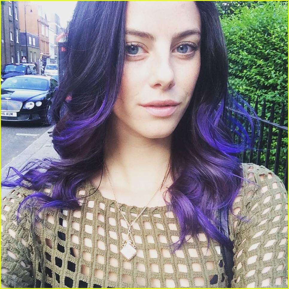 Kaya Scodelario Has Purple Hair See Her New Hair Color Here