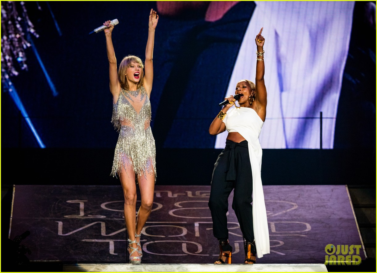 Taylor Swift Sings Two Duets With Mary J  Blige in L A