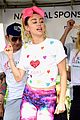miley cyrus is charitable queen at l a county walk to defeat als 13