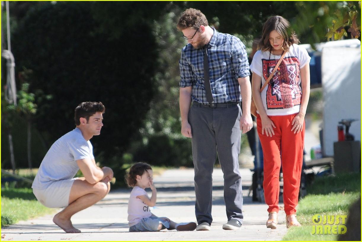 a8d03d916693a Zac Efron Films  Neighbors 2  Scenes in Short Shorts Alongside Chloe ...