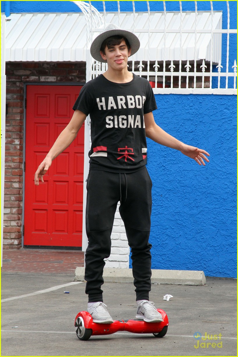 hayes grier carlos pena hoverboard fun dwts practice 18
