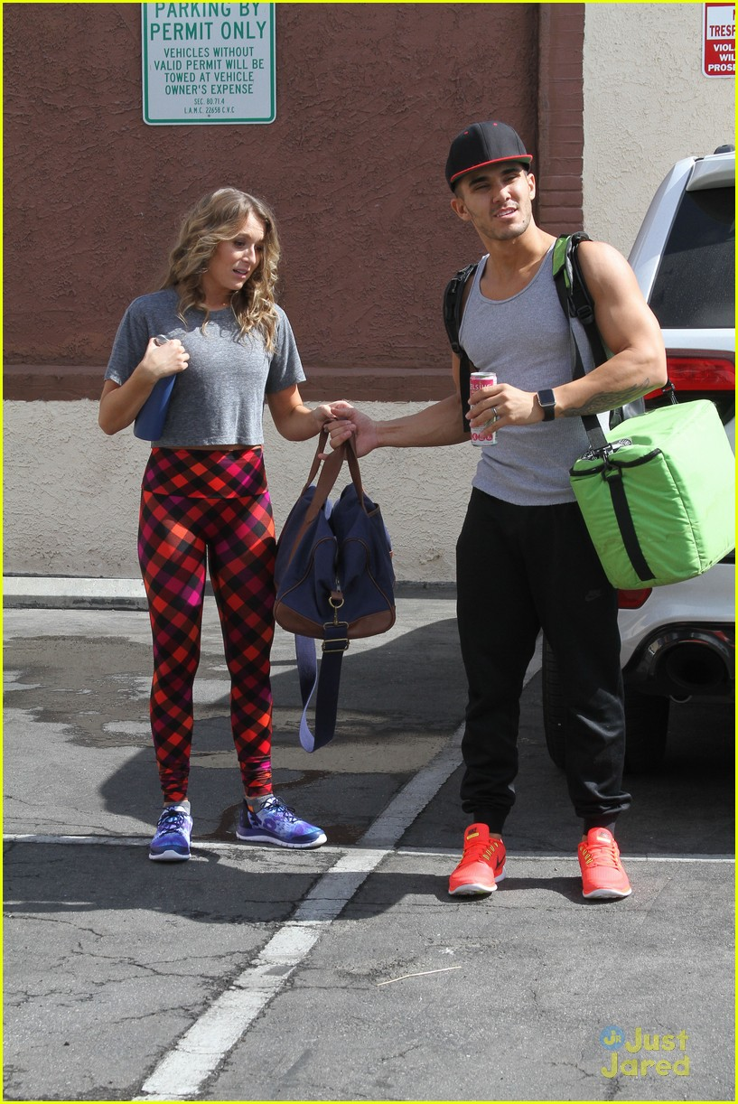 hayes grier carlos pena hoverboard fun dwts practice 24