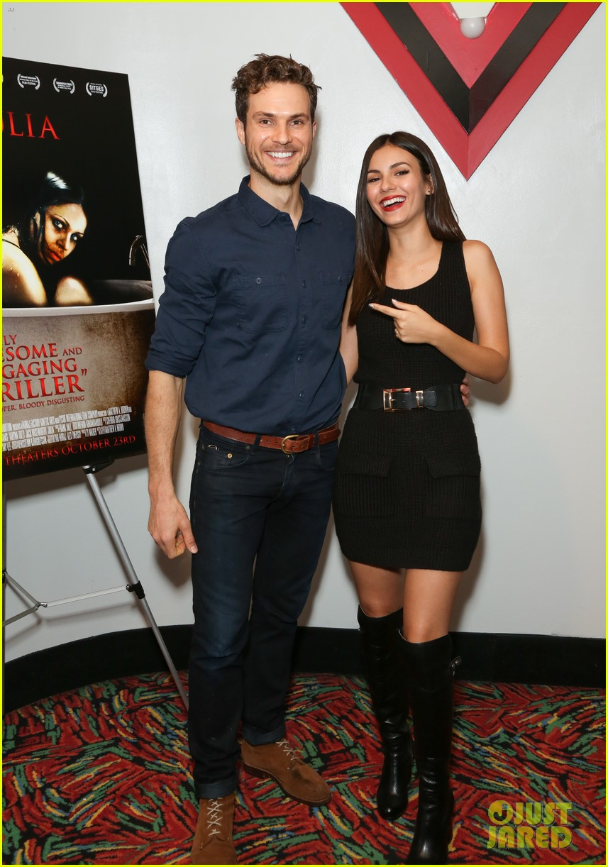 victoria justice supports eye candy co star ryan cooper at julia screening 04