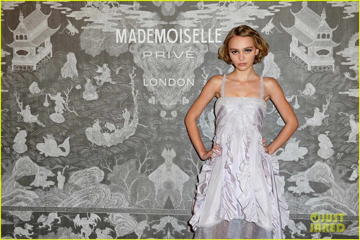 lily-rose depp & cara delevingne shine at london exhibition | photo
