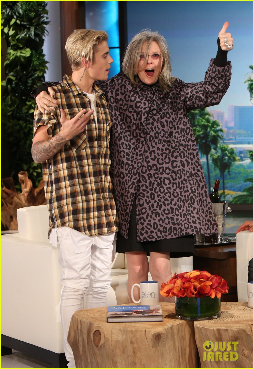 Diane Keaton Totally Fangirls Out Over Justin Bieber on 'Ellen