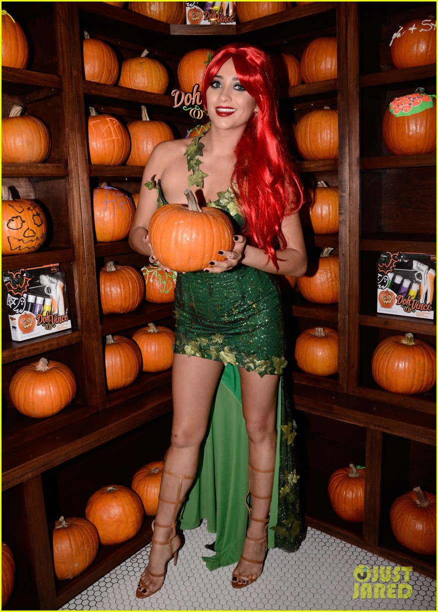 shay mitchell ashley benson just jared halloween party 01