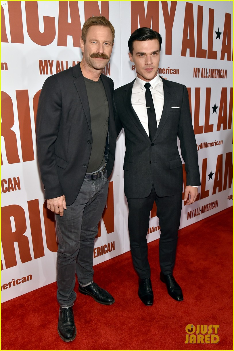 finn wittrock gets support from ahs co stars at my all american premiere 14