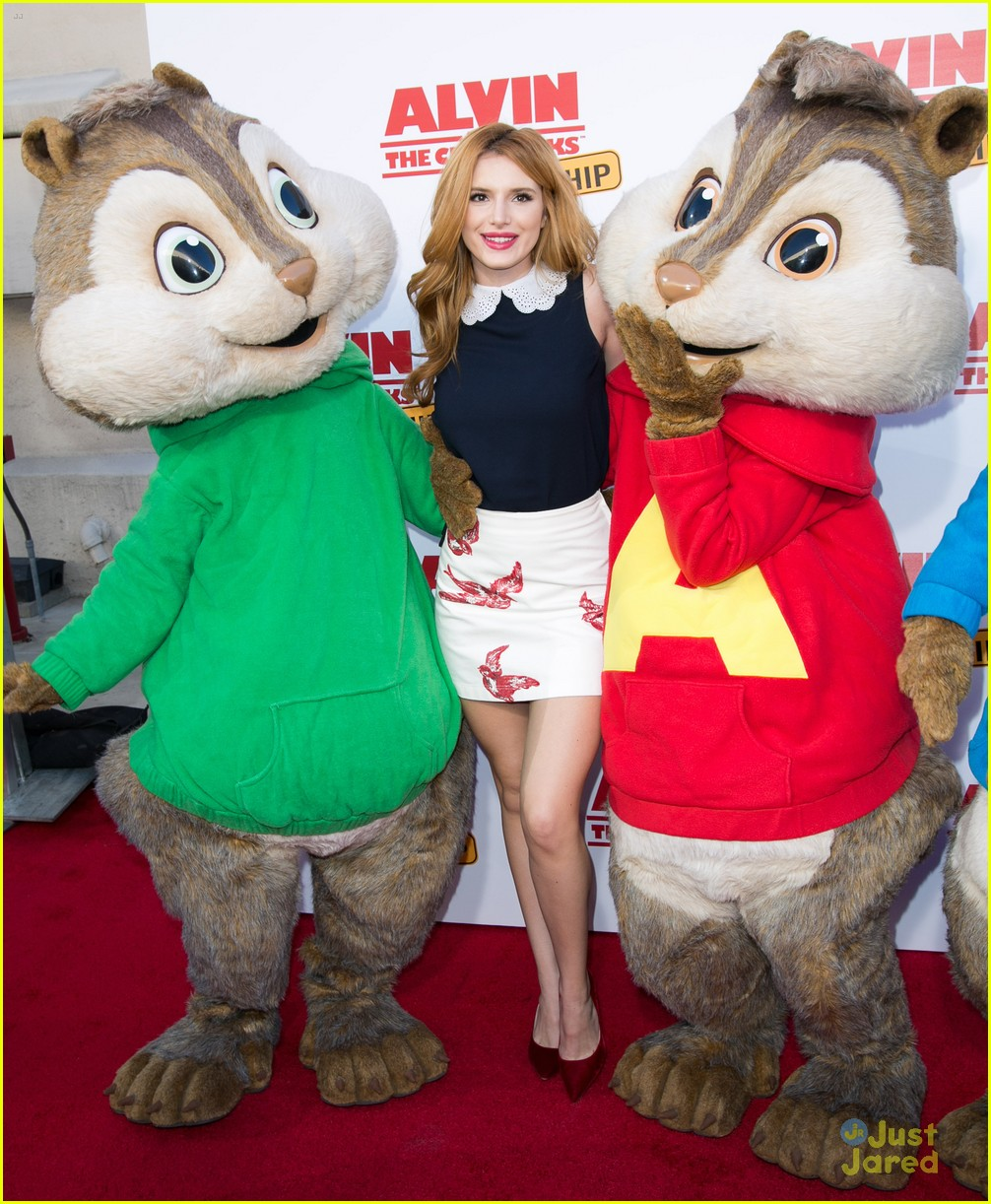 Bella Thorne Hangs With Alvin Simon Theodore At The Road Chip Premiere Photo 905394 Bella Thorne Pictures Just Jared Jr