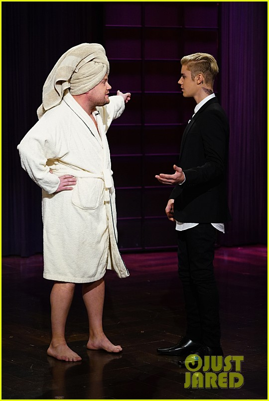 justin bieber subs in for james corden on late late show 02