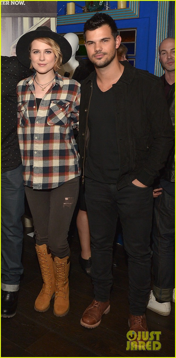Taylor Lautner Celebrates Timberland with Amber Heard