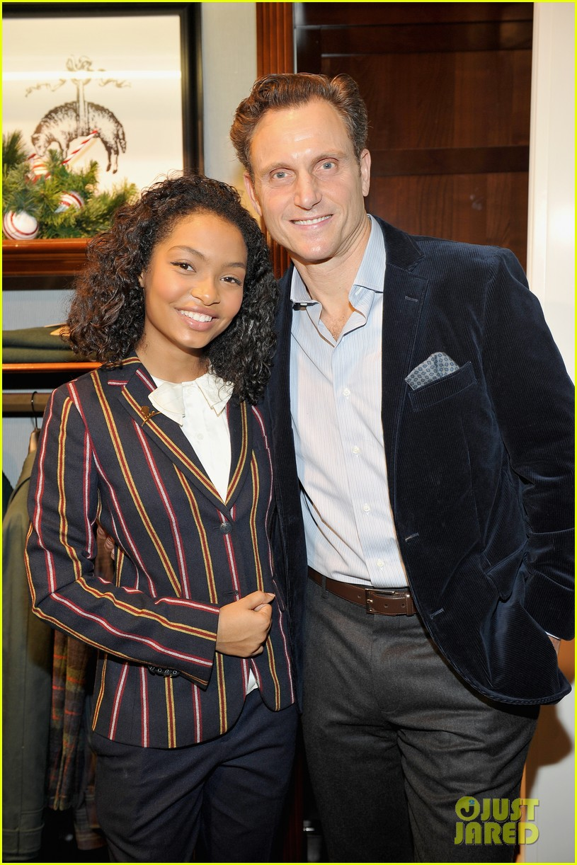 ashley tisdale yara shahidi more brooks brothers st jude holiday event 12