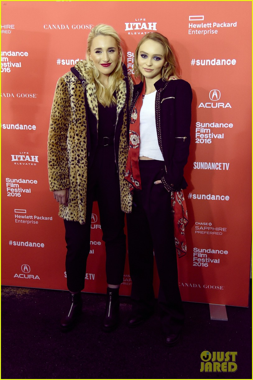 lily rose depp makes sundance debut at yoga hosers premiere 04