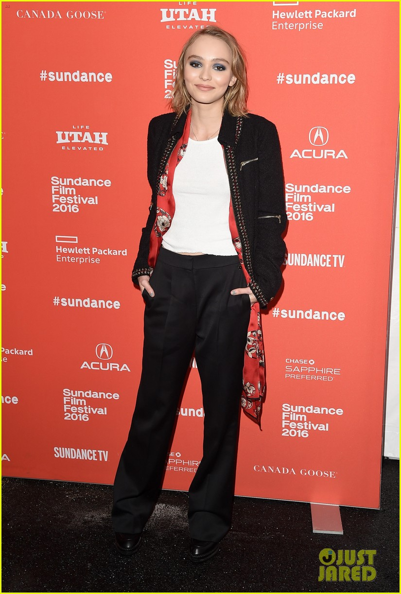lily rose depp makes sundance debut at yoga hosers premiere 05