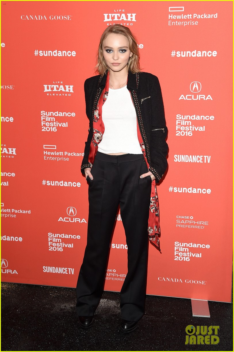 lily rose depp makes sundance debut at yoga hosers premiere 06