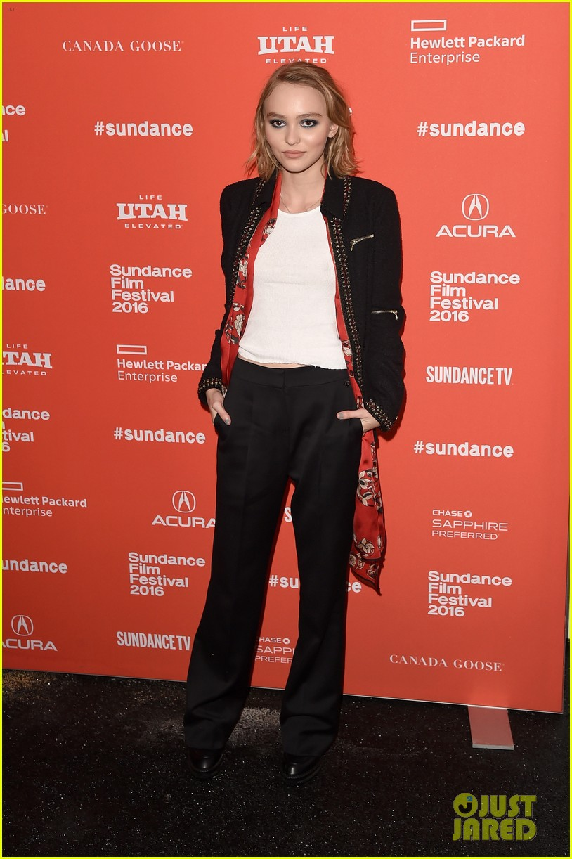 lily rose depp makes sundance debut at yoga hosers premiere 07