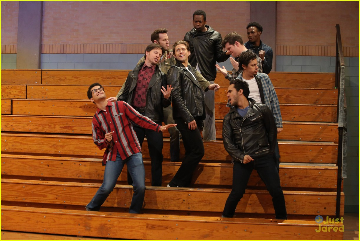 grease live rehearsal pics new batch before premiere 01