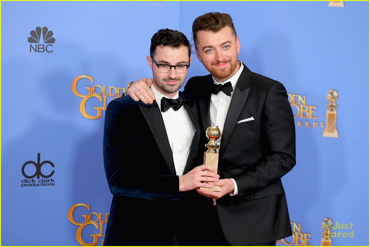 sam smith win best original song golden globes charlie congrats 04