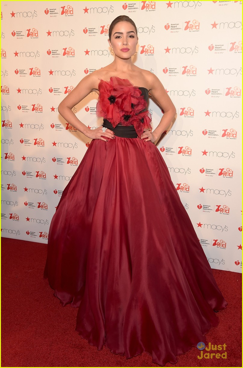 Alexa PenaVega Wows in Red Ball Gown For Go Red For Women NYFW Show ...
