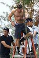 zac efron goes shirtless for tarzan like baywatch moment 05