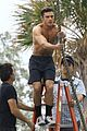zac efron goes shirtless for tarzan like baywatch moment 13