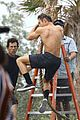zac efron goes shirtless for tarzan like baywatch moment 18