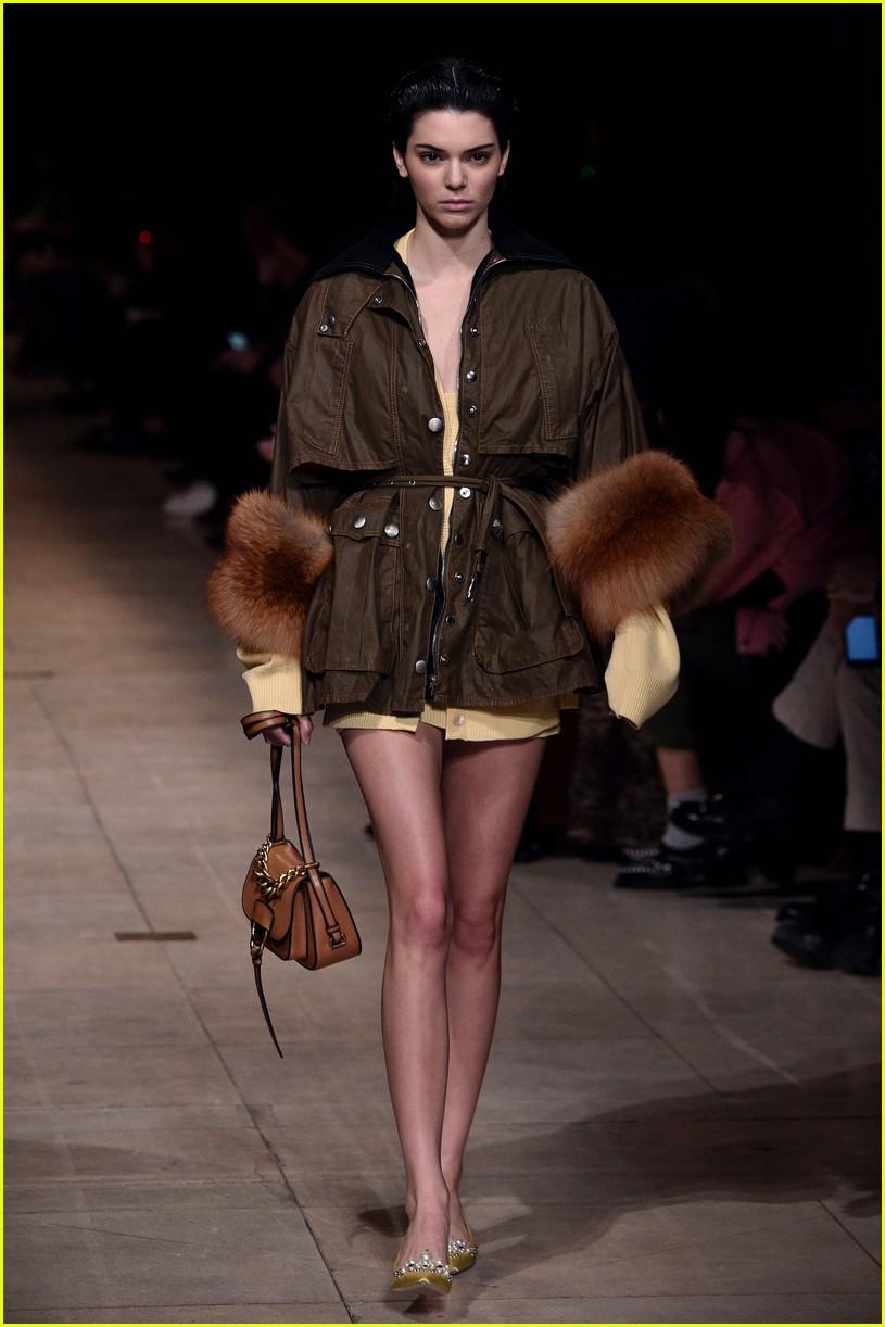 Kendall jenner walks miu miu show paris fashion week