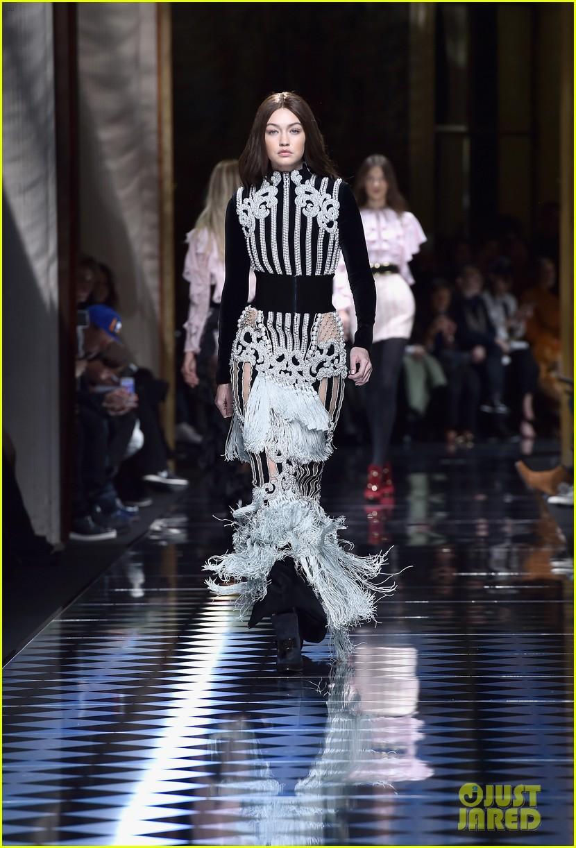 086e352ef6d Kendall Jenner   Gigi Hadid Switch Up Their Hair Colors for Balmain Paris  Show