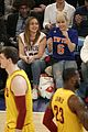 miley cyrus knicks game brandi courtside 17