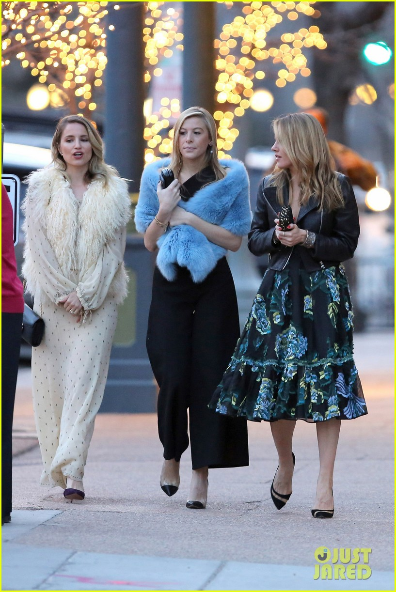 dianna agron dolls up for a wedding in aspen 12