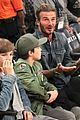 david beckham boys lakers game 34