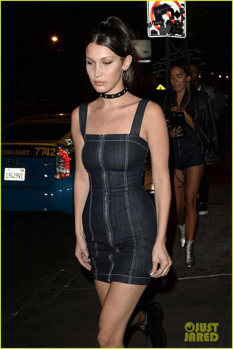 bella hadid supports bff jessie jo stark at the roxy 13