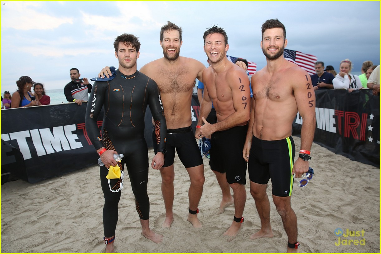 claire holt steven r mcqueen compete in triathlon together 05