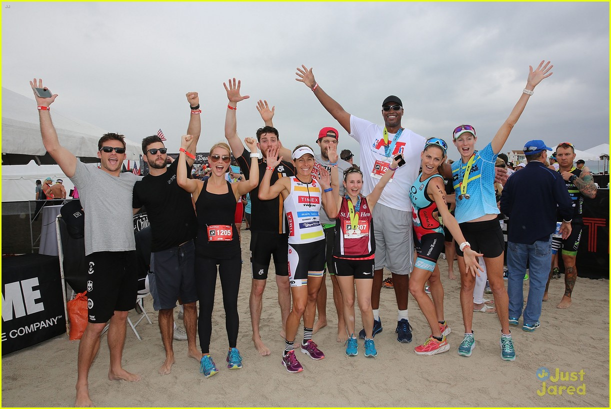 claire holt steven r mcqueen compete in triathlon together 06