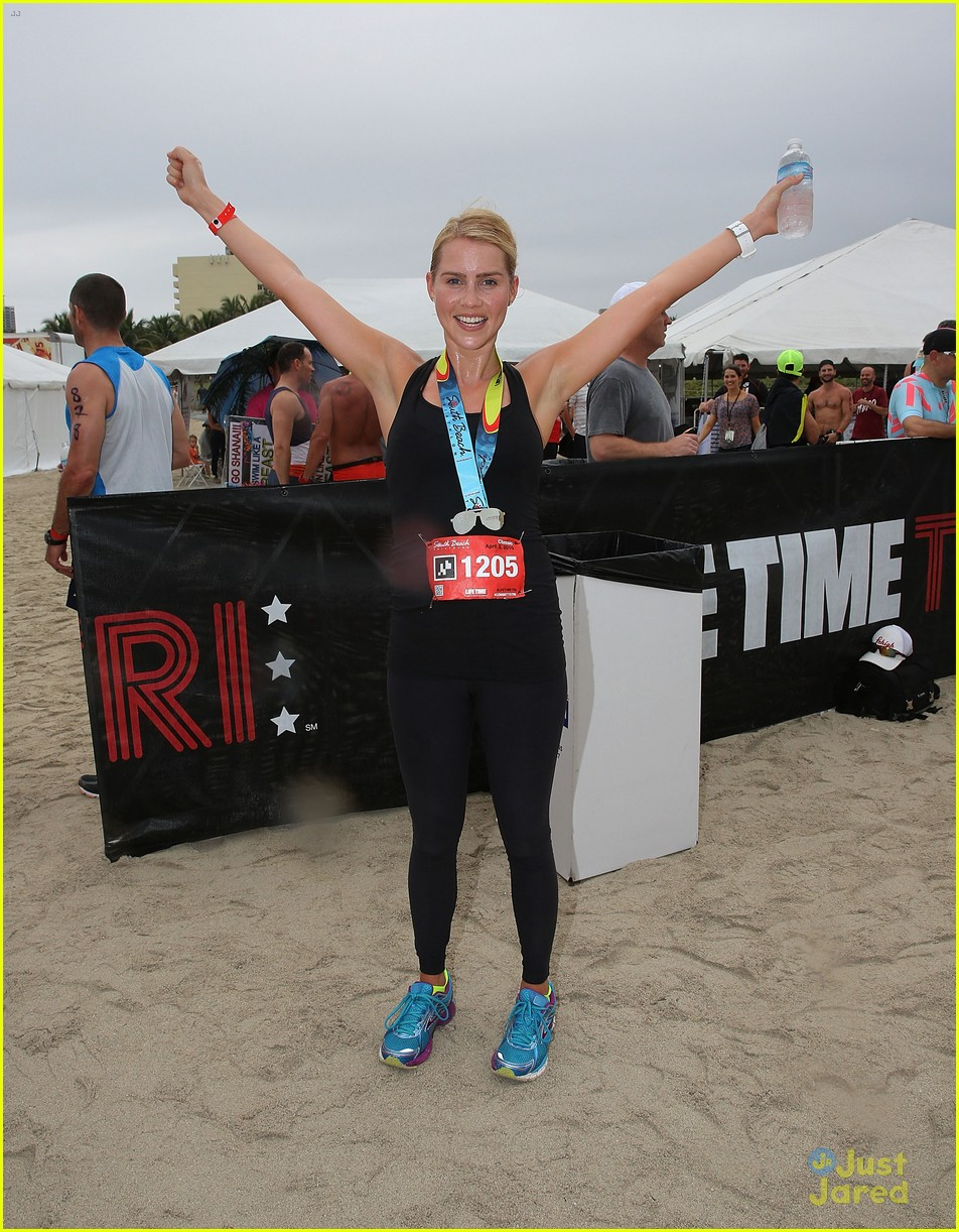 claire holt steven r mcqueen compete in triathlon together 08