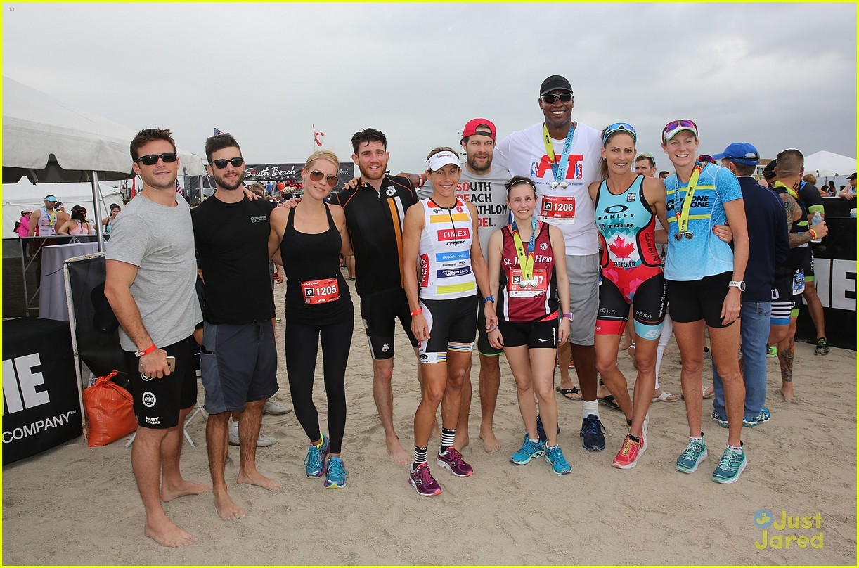 claire holt steven r mcqueen compete in triathlon together 11