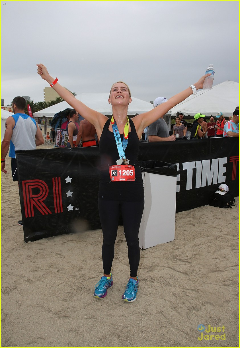 claire holt steven r mcqueen compete in triathlon together 14
