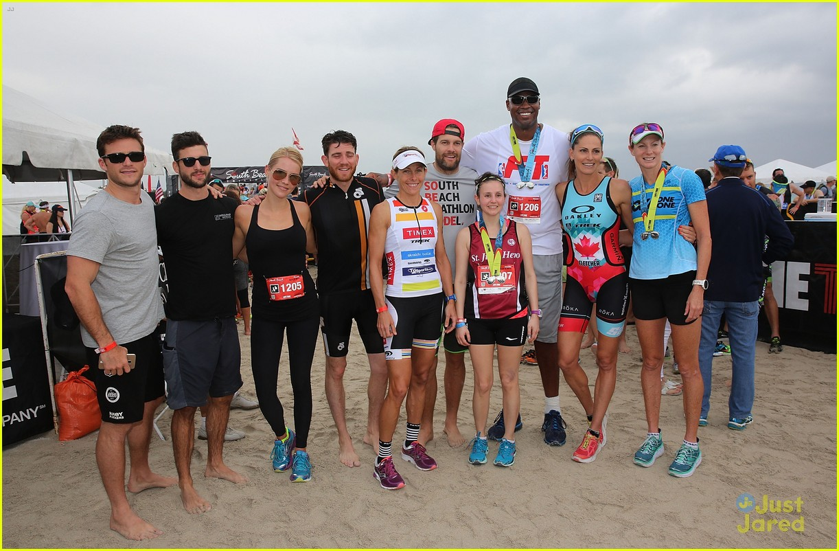 claire holt steven r mcqueen compete in triathlon together 15