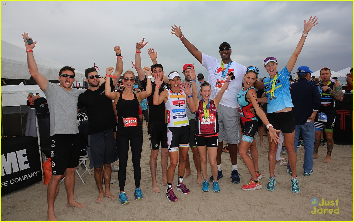claire holt steven r mcqueen compete in triathlon together 16