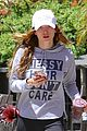 bella thorne messy hair shirt workout signs caa 04