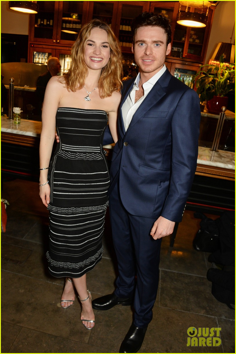 lily james richard madden get support from matt smith at romeo juliet after party 02