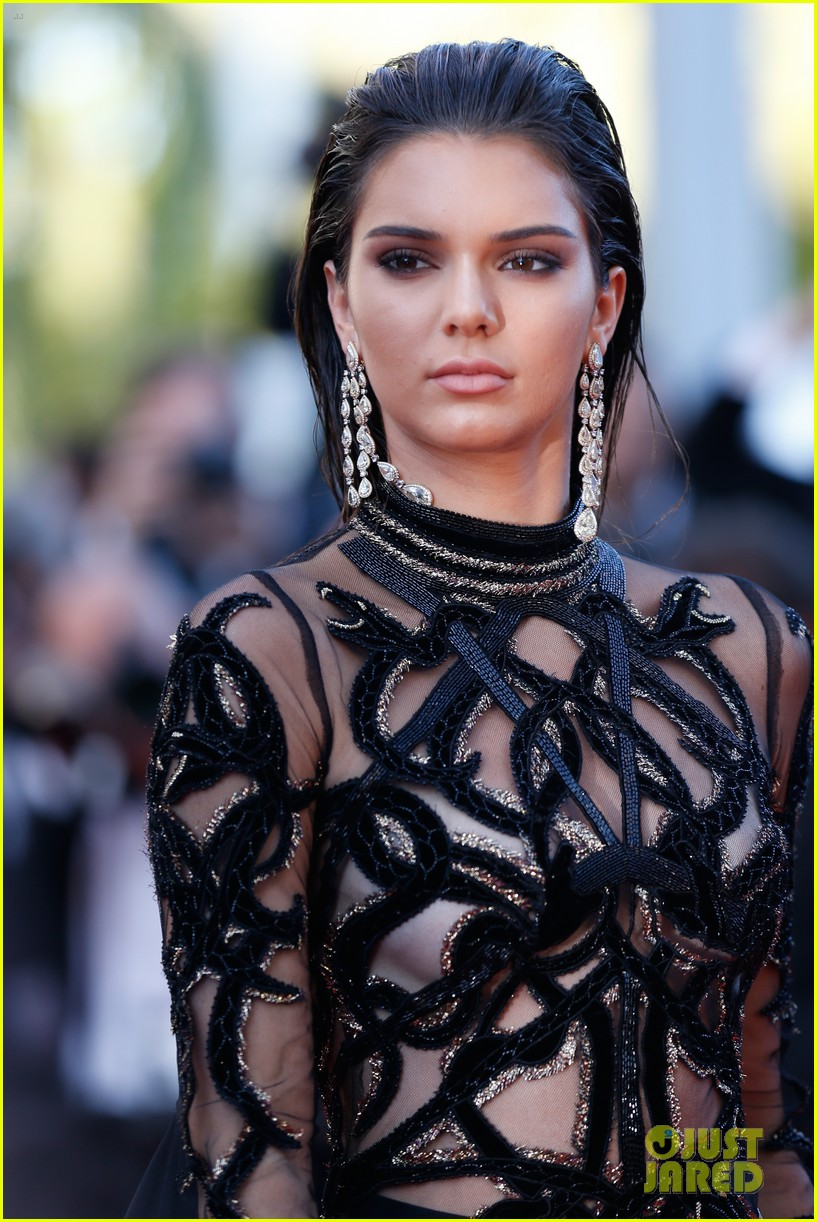 c90e75c39ae Kendall Jenner Wears Ultra Sheer Dress For 'From The Land Of The ...