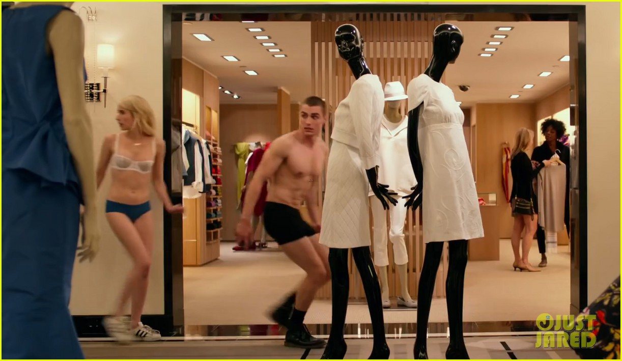 Emma Roberts Strips Down To Lingerie In Nerve Trailer With Dave