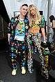 hailey baldwin jordan barrett match at moschino show 10