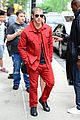 nick jonas red suit aol build appearance 14