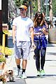 patrick schwarzenegger walks dog maria 01