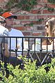 patrick schwarzenegger walks dog maria 13