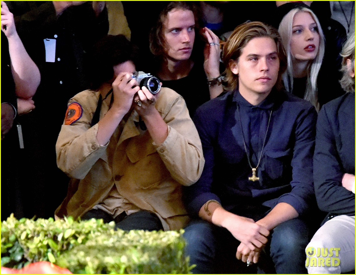 ee86a95f05f4 Cole   Dylan Sprouse Hit Up Tyler The Creator s Fashion Show in LA ...