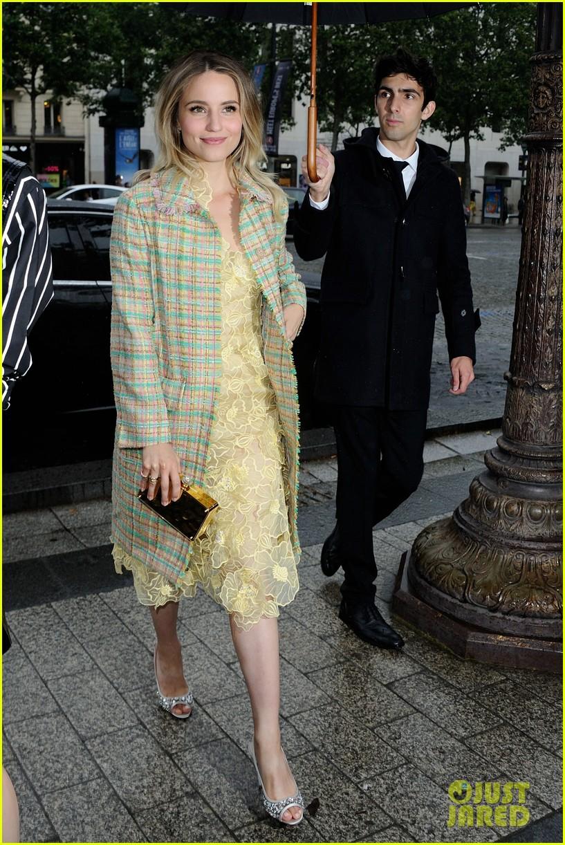 19143e92e526 Dianna Agron Attends Miu Miu Presentation with Sophie Turner
